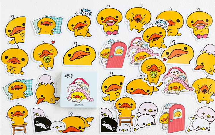 Fighting Duck Diy Decorative Sticker(1pack=45pieces)