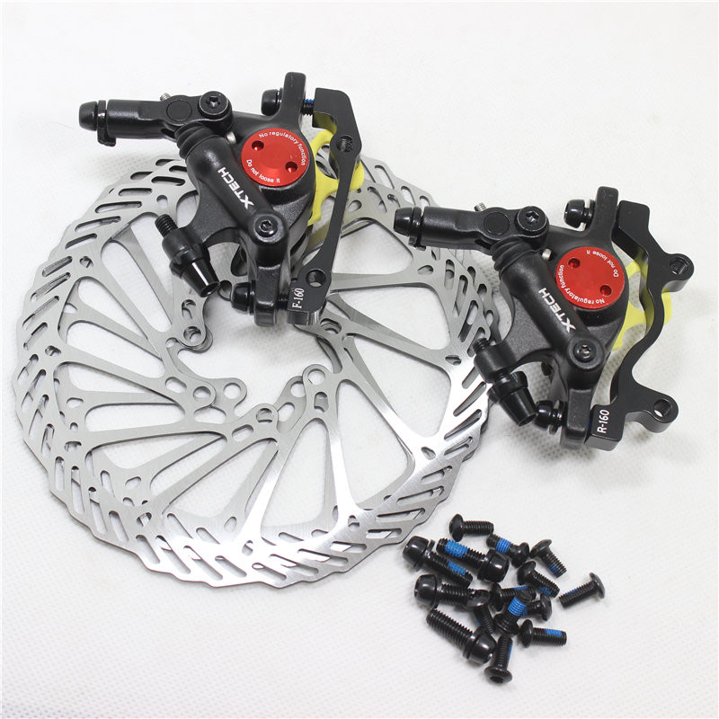 Taiwan ZOOM HB-100 Mtb Bike Disc Brake Calipers Bicycle Line Pulling Hydraulic Brake With Rotors Bike parts 2 Colors велосипедный руль neasty mtb 90 100 110 120 600 620 mtb hb nt14 hb nt14