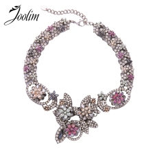 JOOLIM Jewelry Wholesale/2016 Colorful Fashion Necklace Statement Jewelry free shipping ZA Necklace