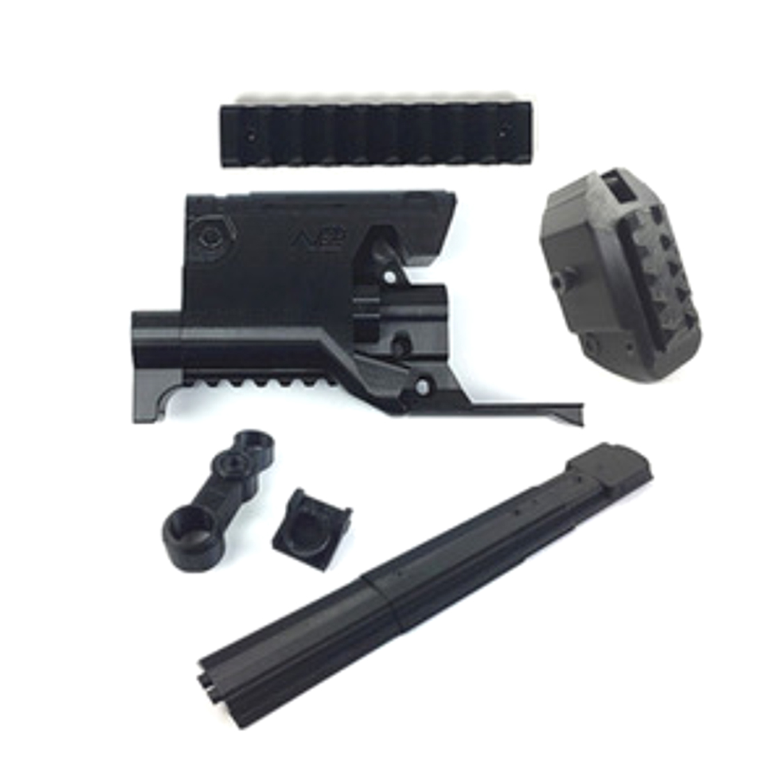 3D Printing Type K and Type A Appearence Modified Kit for Nerf A0711 N-Strike Elite Stryfe Blaster - Black worker twill metal power type flywheel set for nerf n strike elite stryfe blaster nerf n strike elite rapidstrike cs 18 blaster