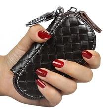 KETREND Genuine Leather Key Wallets Unisex Zipper Key Purse Car Key Holders Buckle Key Case Housekeeper Holder KSB151