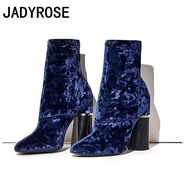 De Mode Euro Bleu D'hiver Bottes Cheville Designer Femmes Royal qPRwzp