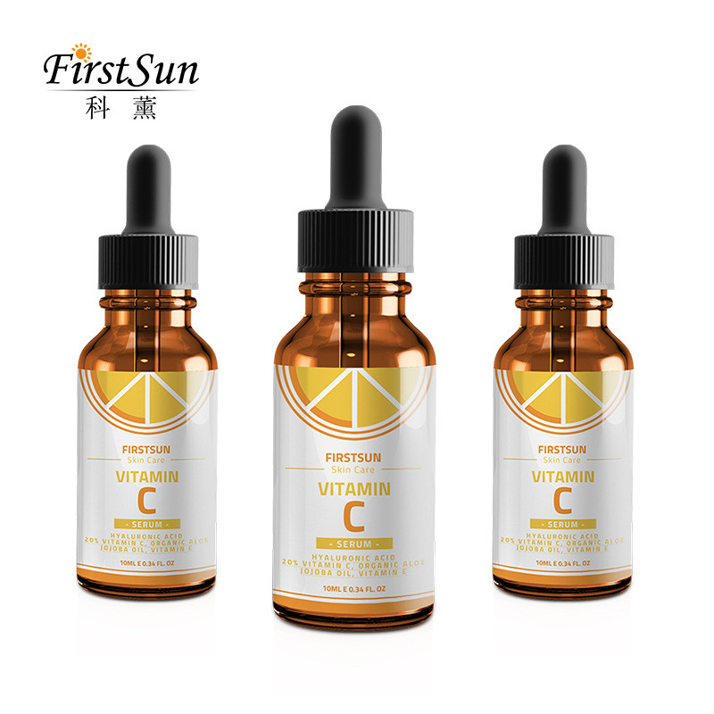 Firstsun Vitamins VC Hyaluronic Acid Hydrating Brightens Skin Tone Moisturizing Whitening Effect Skin Care Facials Firming Skin