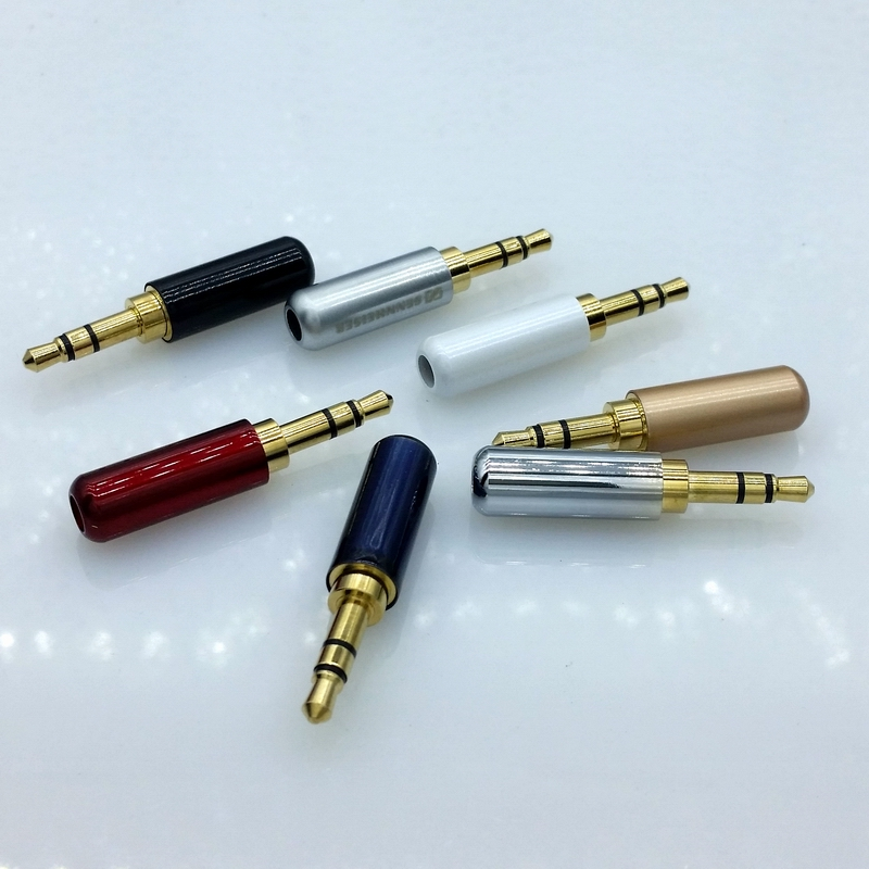 3pin 3.5mm Audio Gold Plated headphone plug 3.5 RCA Connectors jack ...