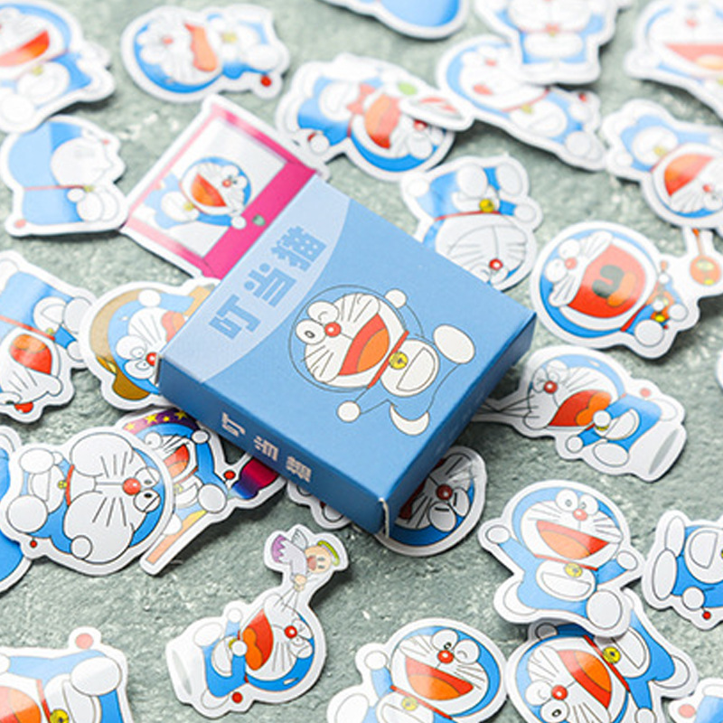 40 Pcs/box Cartoon Doraemon Sticker Cute Adhesive Journal DIY Stickers Diary Label Scrapbooking Sealing Sticker School Supply