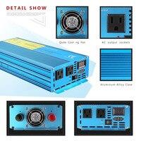 6000 Вт Портативный автомобиля Мощность инвертор DC12V к AC110V Солнечный Инвертор изменение Зарядное устройство для ТВ dvd плеер конвертер адаптер