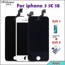 Получить скидку AAA Pantalla для iPhone 5 5S емкостный Экран дисплей ЖК-дисплей комплект модуль для iPhone SE 5C Digitizer Замена Ассамблея с подарки