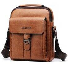 Luxury Brand Vintage Messenger Bag Men Leather Shoulder Bags Business Casual Brown Crossbody Bags For Men Handbag Small Satchels