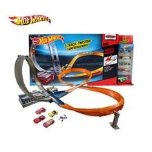 Hot Wheels гоночный трек пластиковые металлические мини-автомобили железная дорога brinquedo Развивающие игрушки для детей X2586