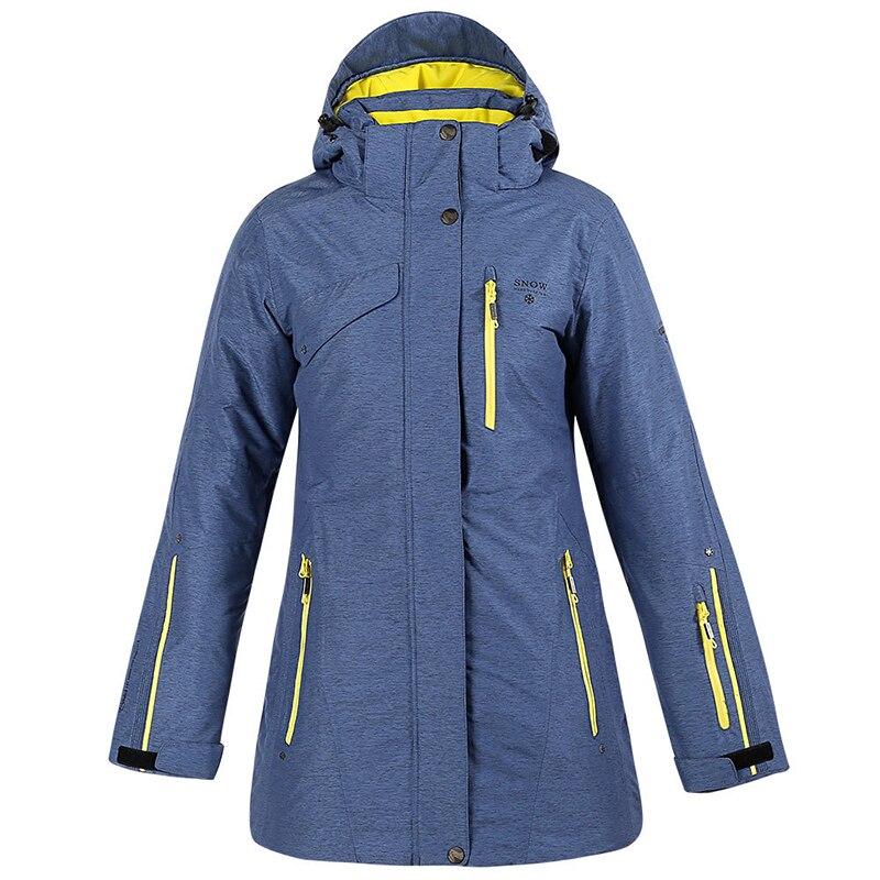 Winter Women's Ski Wear Female Models Mountaineering Ski Snowboard Coat Waterproof Windproof Warm Jacket
