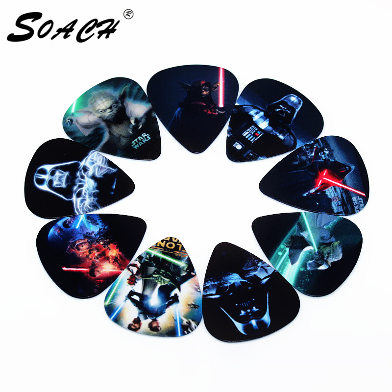 SOACH 10pcs Guitar Picks Thickness 0.71mm Bass Guitar Pick Parts Musical Instrument Paddle Accessories