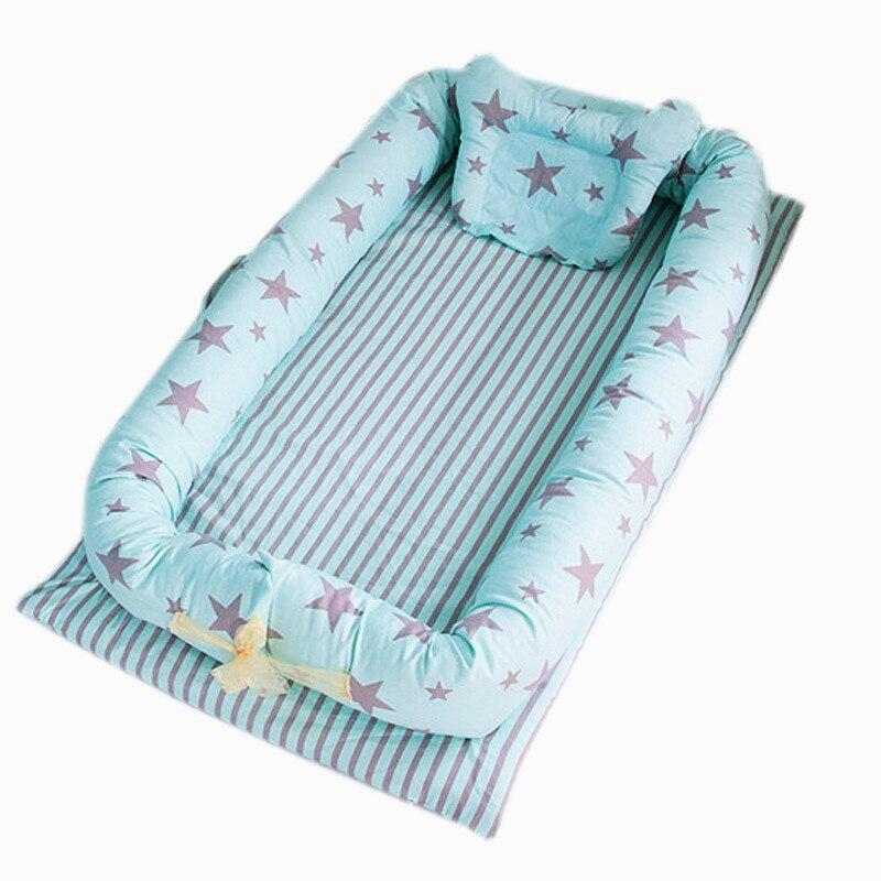 Sac bébé lit Portable dans le lit lit nouveau-né lit bébé lit de jeu tapis de voyage lit avec oreiller lavable