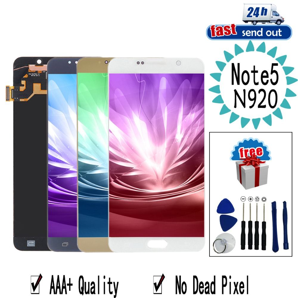 5.7'' AMOLED LCD For Samsung Galaxy NOTE 5 NOTE5 N920 LCD Display N920F Touch Screen Tested Digitizer Assembly