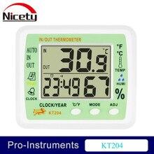 KT204 Digital Thermometer Hygrometer for Incubator Null