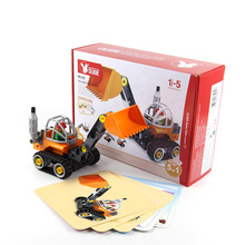 Eductional 5 in 1 Building Blocks Sets Engineering Car children Kids Toys Christmas Gifts compatible with legoe