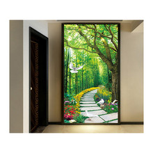 Diamond painting Embroidery, Round Deep in the bamboo forest Full rhinestone 5D cross stitch