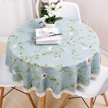 Large garden tablecloth, cotton and linen European round American country table cloth