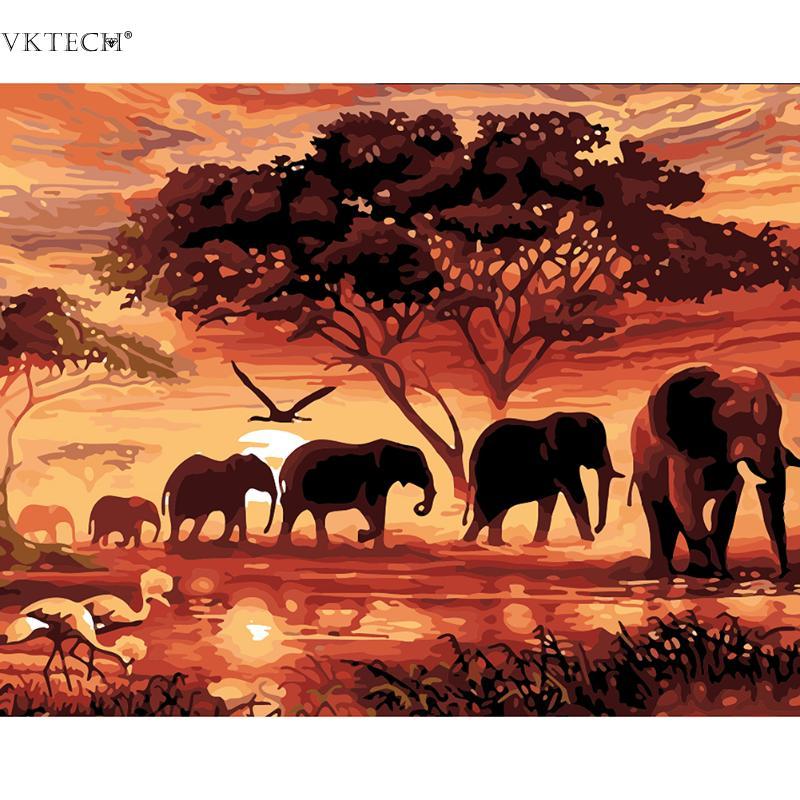 हाथी पशु विश्व 5 डी Diy - कला, शिल्प और सिलाई