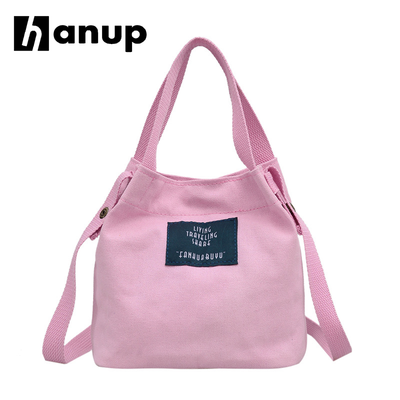 Lady Canvas Handbag Mini single shoulder bag Crossbody Messenger bag women swagger bag Female shopping bags Bucket pack