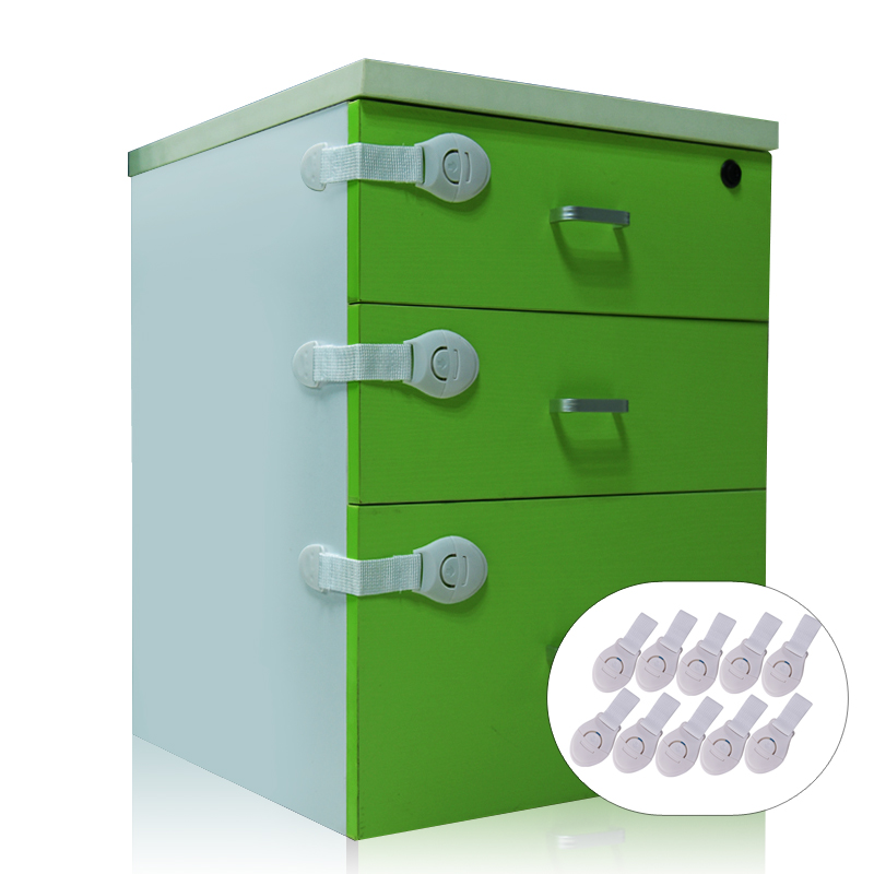 10 pcs child lock baby safety protection children window drawer door locks belts cabinet. Black Bedroom Furniture Sets. Home Design Ideas