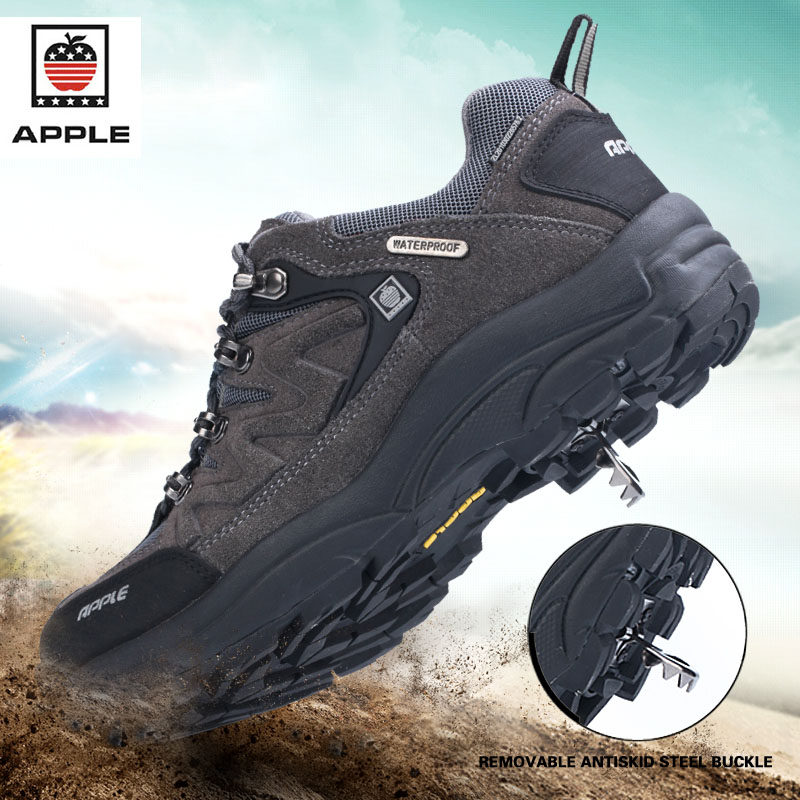 2018Men's Winter Sneakers Waterproof Breathable Hiking Shoes Outdoor Mountain Climbing Trekking Boots Ankle Camel Hunting Shoes цена