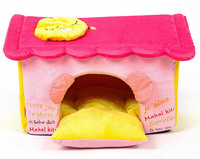 New Arrival Pet Dog Cat Cute Lovely Pink House Doggy Warm Soft Kennels Puppy Autumn Winter