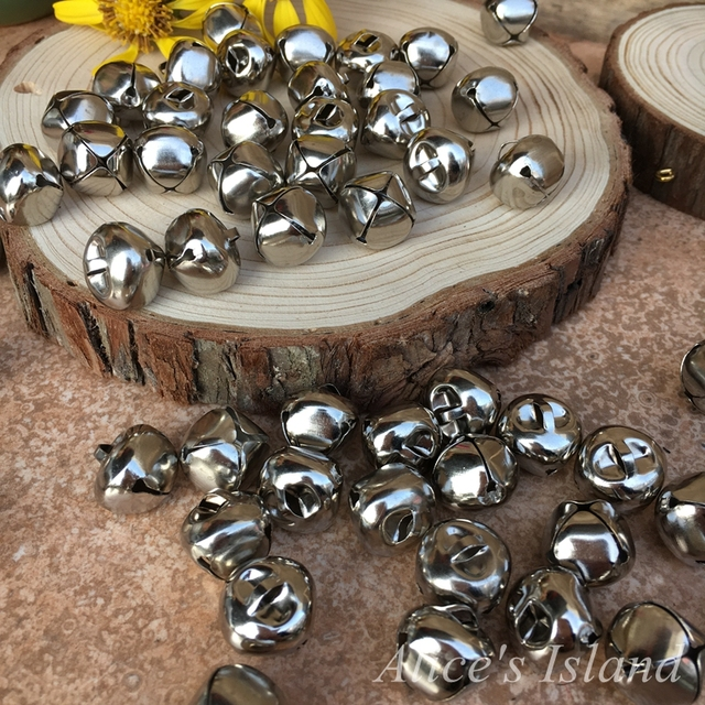 40pcslot40mm Silver Jingle Bell For Christmas Decoration Charms Inspiration Wedding Bell Decorations