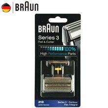 Braun żyletka 31S folia zastępcza do golarki do serii 5000 Electric Sahver (5775 5875 5877 5895 6520 5000) kolor srebrny