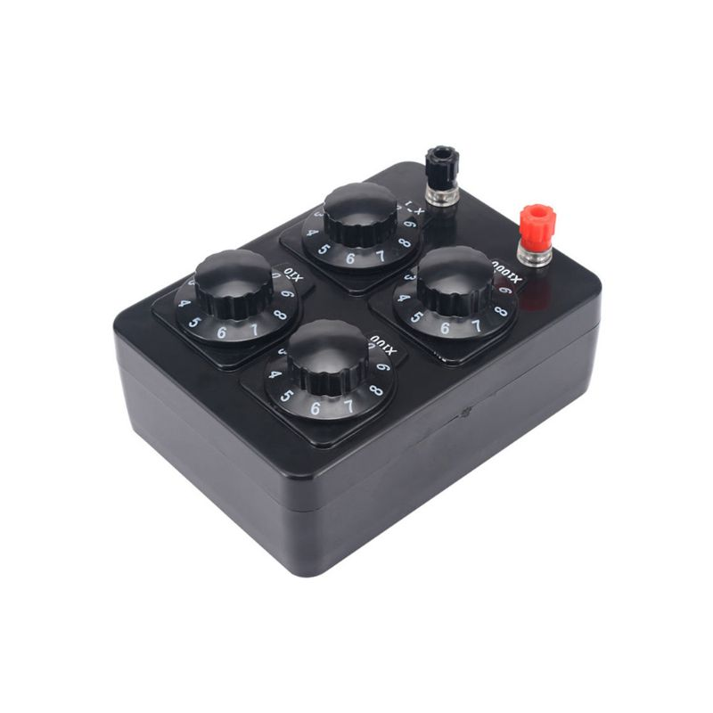 0-9999 Ohm Simple Resistance Box Precision Variable Decade Resistor Teaching Instrument
