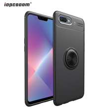 Phone Case For OPPO A5 A3S Cover soft Finger Ring Car Magnet Back shell C1 Coque 6.2