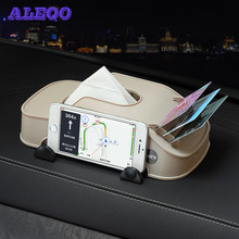Car Tissue Box Phone Holder Card Multifunction Storage Tidying Case Decoration Tools Auto Interior Accessories Car organizer(China)