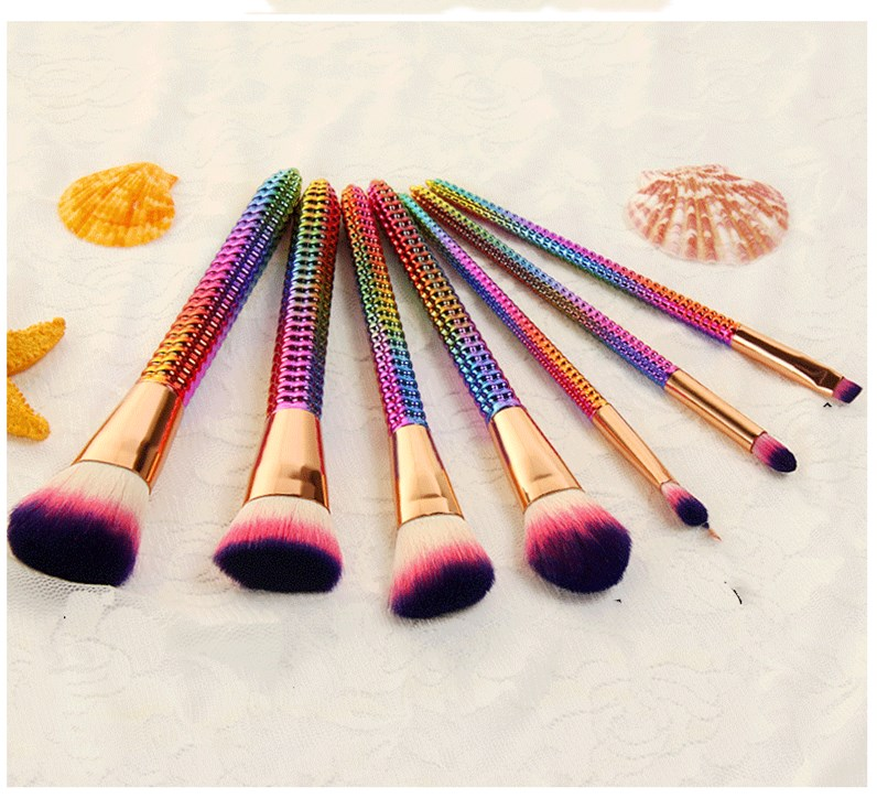 MODOAO Corn Cob Makeup Brushes Set Eyshadow Blusher Powder Blending Brush Beauty Kits Colorful Cosmetic Foundation