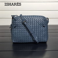ISHARES Sheepskin Woven Luxury Crossbody Bags Women Girls Messenger Handmade Designer Top Quality Lambskin Bags Fashion