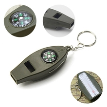 Children referee 4 in 1 whistle thermometer with whistle plastic magnifying glass compass training dog dedicated
