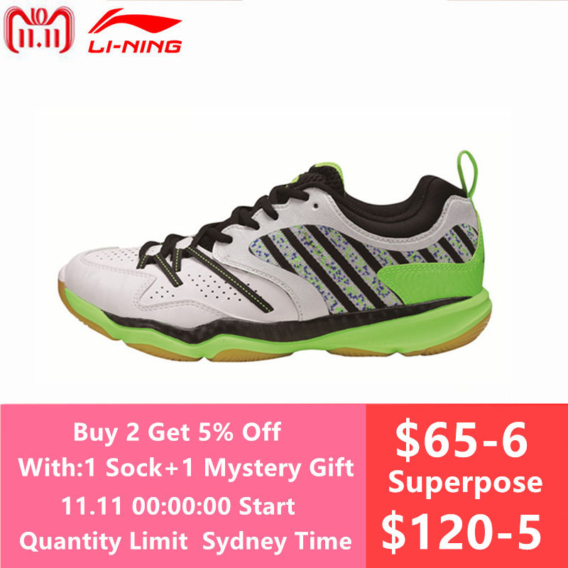 Original New Li-Ning Men's Badminton Shoes Breathable Athletic Sneaker Anti-Slippery Sports Shoe Li Ning Genuine AYTM081 L719OLB li ning original men ranger td badminton training shoes breathable sneakers wear resistance li ning sports shoes aytm081