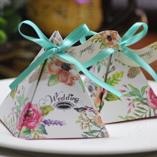 50pcslot Tiffany Blue Sweet Love Wedding Favor Boxes Wedding Candy
