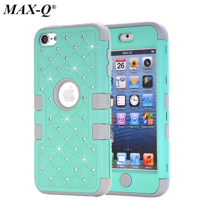 release date: 6039e 53f5c US $6.61 |MAX Q Case for iPod Touch 6 6th Generation Silicone + PC Case  Girls Fashion Luxury Diamond Rhinestone Bling Armor Hard Cover-in Fitted  Cases ...