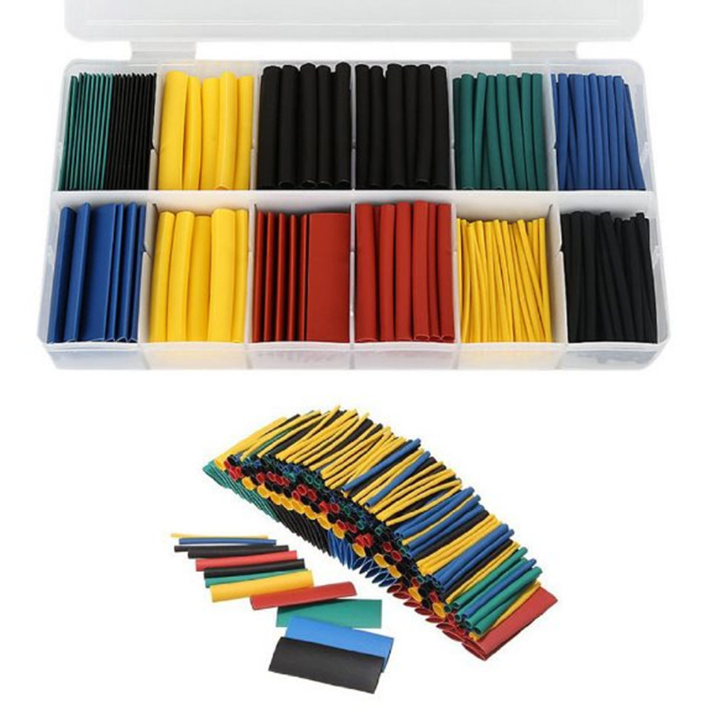 2018 hot kitchen tools kit 280 Pcs Heat Shrink Tubing Tube Assortment Wire Cable Insulation Sleeving Kit #0103