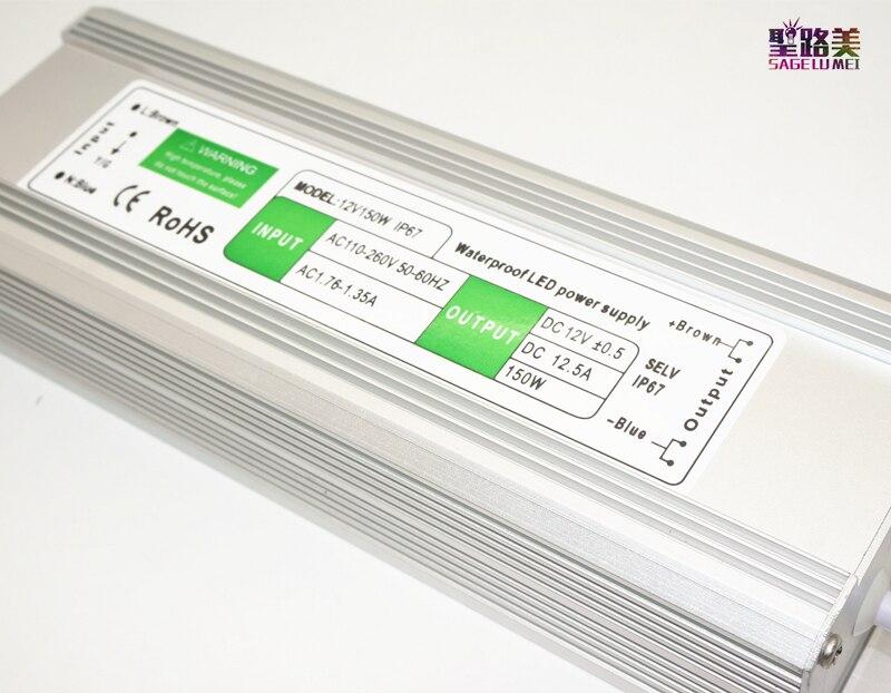 Անվճար առաքում DC12V 150W 12.5A Անջրանցիկ - Լուսավորության պարագաներ - Լուսանկար 5