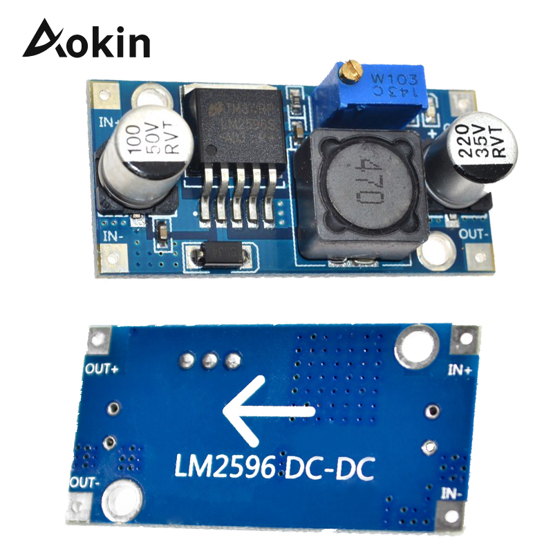 Step-down Power Supply Module LM2596 LM2596S DC-DC 4.5-40V Adjustable Step-down Power Supply Module NEW Good Quality