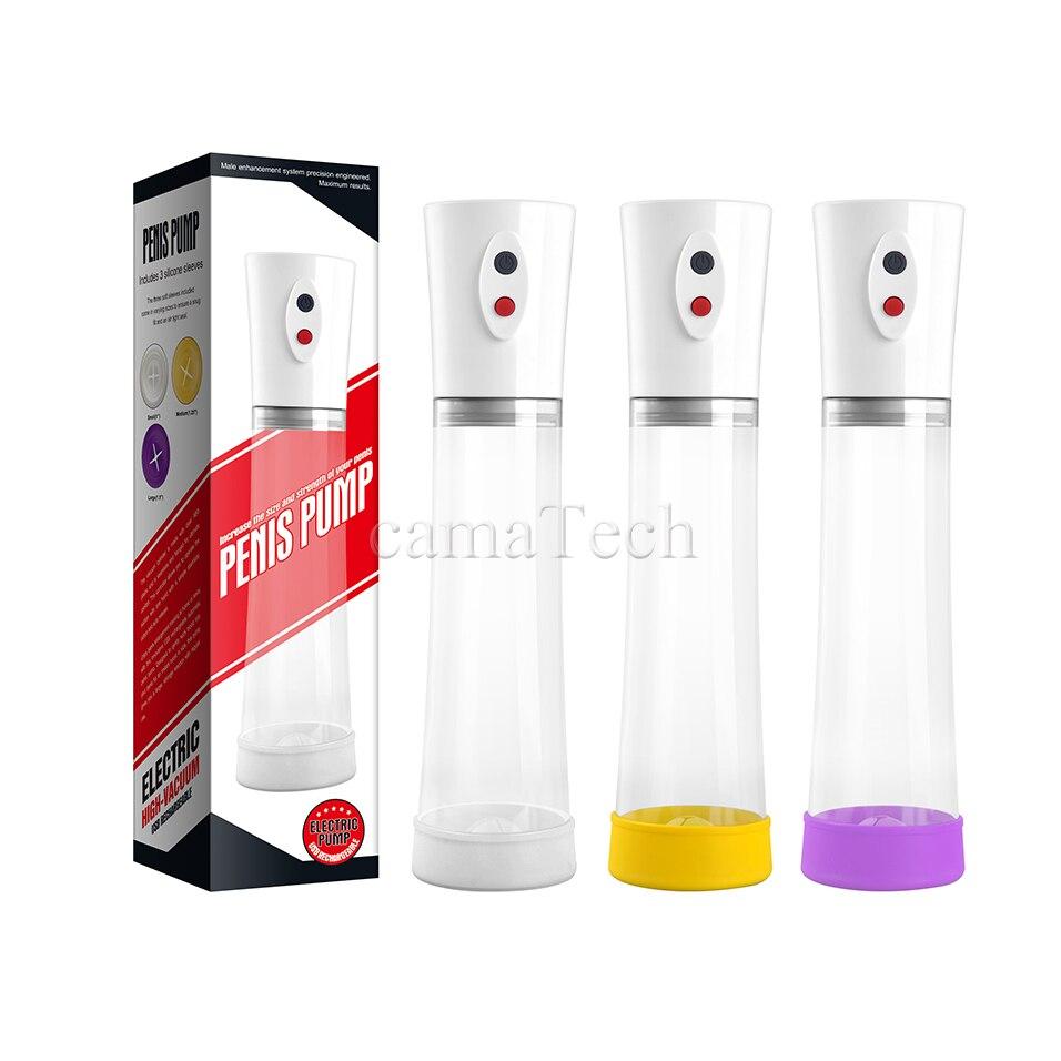 Male Enhancer Electric Penis Pump Rechargeable Automatic Cock Erection Enlarger Cup Enlargement Men Air Pressure Vacuum Extender