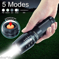 USA RU Hot E17 CREE XML T6 LED 3800LM Zoomable Flashlights Torches lamplight for 18650 Rechargeable or AAA or 26650 Battery