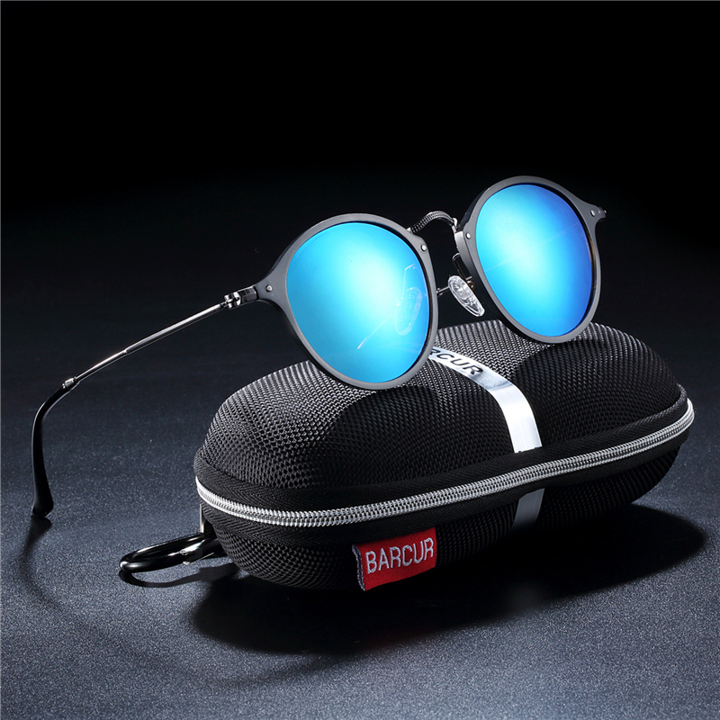 HTB1wVbGaUvrK1RjSspcq6zzSXXaQ BARCUR Aluminum Vintage Sunglasses for Men Round Sunglasses Men Retro Glasses Male Famle Sun glasses retro oculos masculino