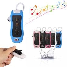 Alta Calidad de alta Fidelidad 4 GB Natación Buceo Waterproof Mp3 Deporte Mini Clip MP3 Reproductor de Música Con Radio FM Auriculares auriculares