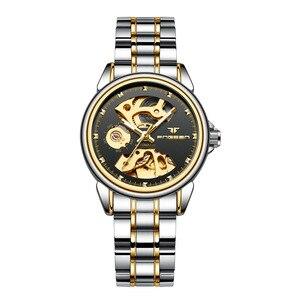 Image 5 - 2019 luxo feminino relógio mecânico automático relógio de negócios senhoras relógios à prova dwaterproof água oco rosa mecânico relógio para presente feminino