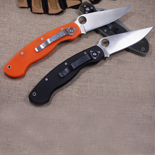 Hot now 58HRC Folding Knife G10 Handle Tactical Hunting Knife Outdoor Tools Camping Survival Knife Best Gift Knives