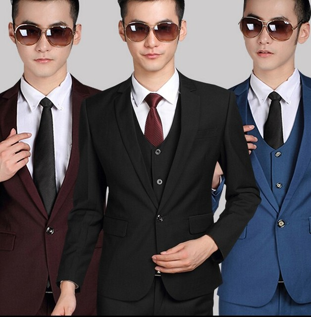 690b33bc44207 New/Top Selling custom made Slim suits tuxedo Ball Gowns male clothing  men's costumes (Jacket + pants +waistcoat+tie)-in Suits from Men's Clothing  & ...