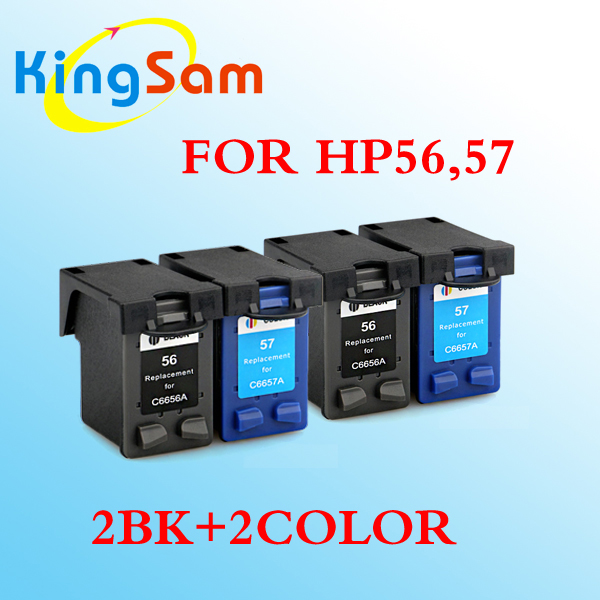 4x for hp 56 57 ink cartridge compatible for hp 57 for hp56 dj 450 450cbi 450ci 450wbt in ink. Black Bedroom Furniture Sets. Home Design Ideas