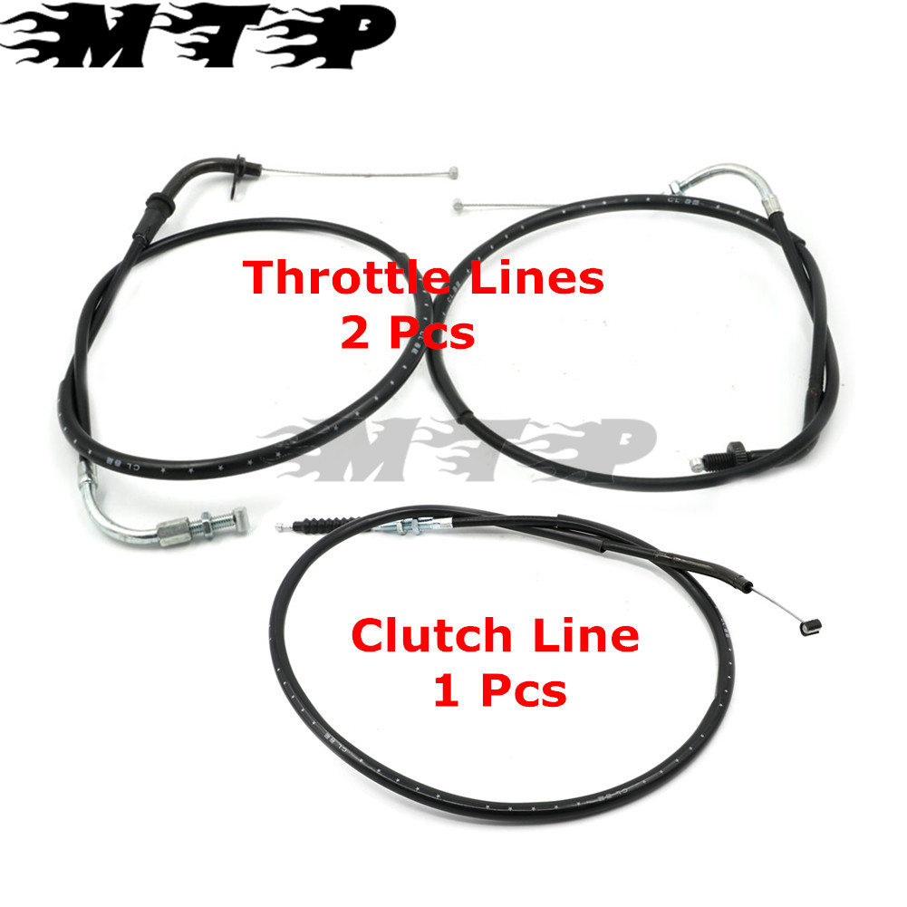 Brand New Motorcycle Clutch Line & Throttle Line For Yamaha V-star DS400/650 98-12 free shipping brand new motorcycle throttle cable throttle wire for yamaha ttr250 guaranteed 100
