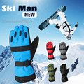 Winter New Fleeces Thicken Men's PU Stitching Waterproof Warm Gloves Ski Snowboard Gloves Motorcycle Gloves 5 Color